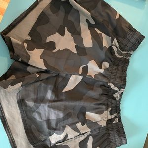 Athleta Camo Running Shorts